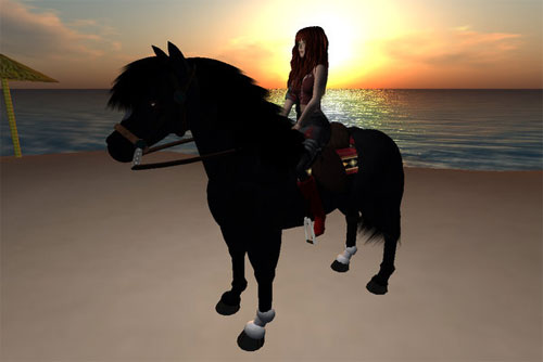 Sunset Rides in Second Life