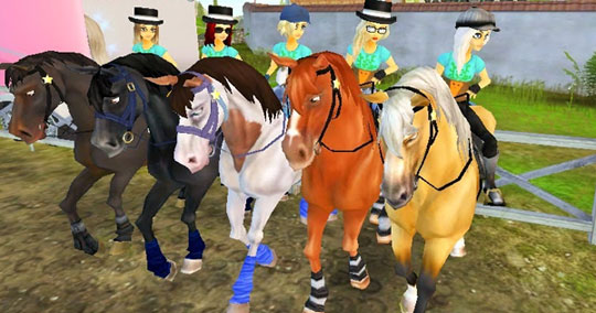 Preparing to Ride with Friends in Star Stable