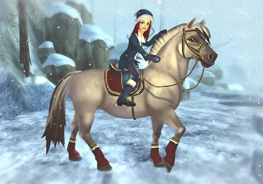 Enjoying the Snow in Star Stable
