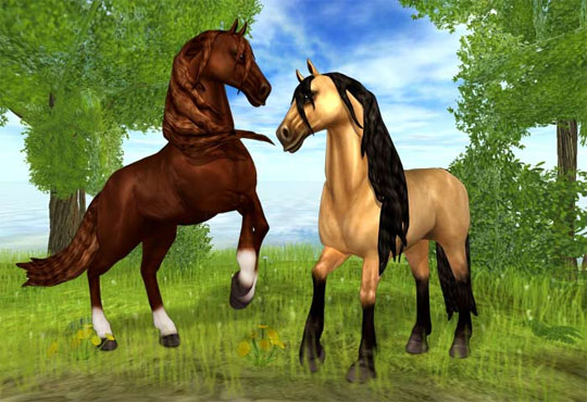 Gorgeous Andalusian's in Star Stable