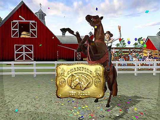 Top Rider Buckle in Let's Ride: Silver Buckle Stables