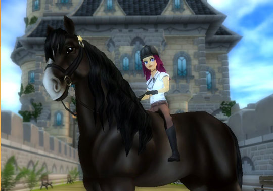 Majestic Shire horse in Star Stable