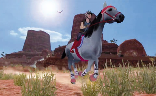 Gallop Through the Dusty Desert in Planet Horse