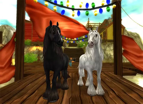 Black & White Tinker Horses