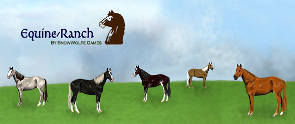 Equine Ranch - Welcome to one of the most realistic horse games around. Train and Event with your horses in 11 disciplines and breed the best horses you can.