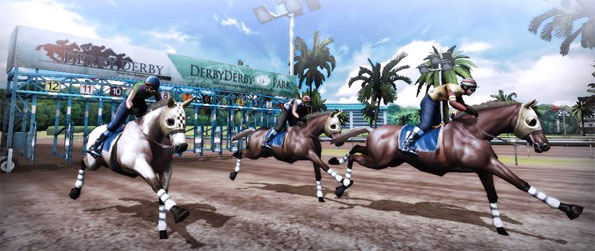 Derby Derby - Enjoy a brilliant 3D horse Racing Game where you can bet on the results as well as run your  own horses.