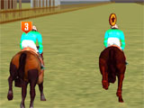 Horse Racing Thrill pushing for the win