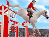 Jumpy Horse Show Jumping: Jumping over poles