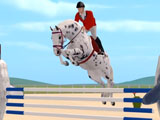 Leaping over obstacles in Jumpy Horse Show Jumping